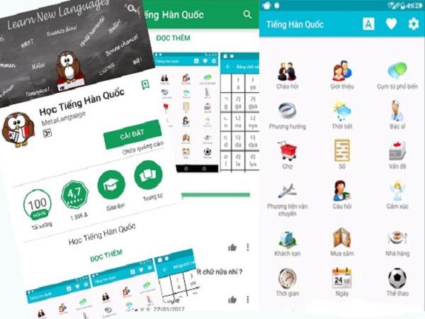 Các app học tiếng Hàn tốt nhất cho người mới học
