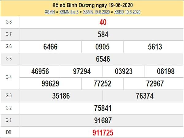 Soi cầu XSBD 26/6/2020