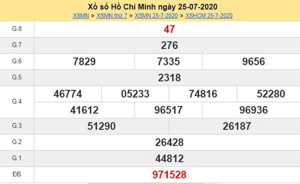 Soi cầu KQXS Hồ Chí Minh 27/7/2020 VIP cực chuẩn