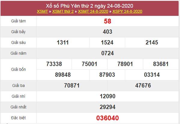 Soi cầu KQXS Phú Yên 31/8/2020 thứ 2 cực chuẩn cùng cao thủ