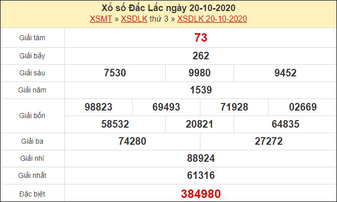 Soi cầu XSDLK 27/10/2020