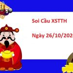Soi cầu XSTTH 26/10/2020 -Soi cầu xổ số Thừa Thiên Huế thứ 2
