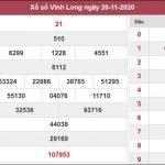 Soi cầu XSVL 27/11/2020 chốt lô VIP Vĩnh Long giờ hoàng đạo