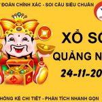 Soi cầu số đẹp sổ xố Quảng Nam thứ 3 ngày 24/11/2020