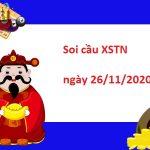 Soi cầu XSTN 26/11/2020 – Soi cầu xổ số Tây Ninh hôm nay thứ 5
