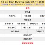Soi cầu XSBD 4/12/2020, chốt số Bình Dương tỷ lệ trúng cao