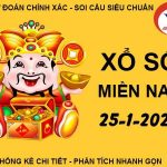 Soi cầu kết quả XSMN thứ 2 ngày 25/1/2021
