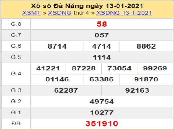 Soi cầu XSDNG 16/1/2021