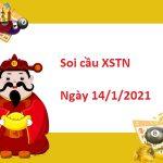Soi cầu XSTN 14/1/2021 – Soi cầu xổ số Tây Ninh thứ 5