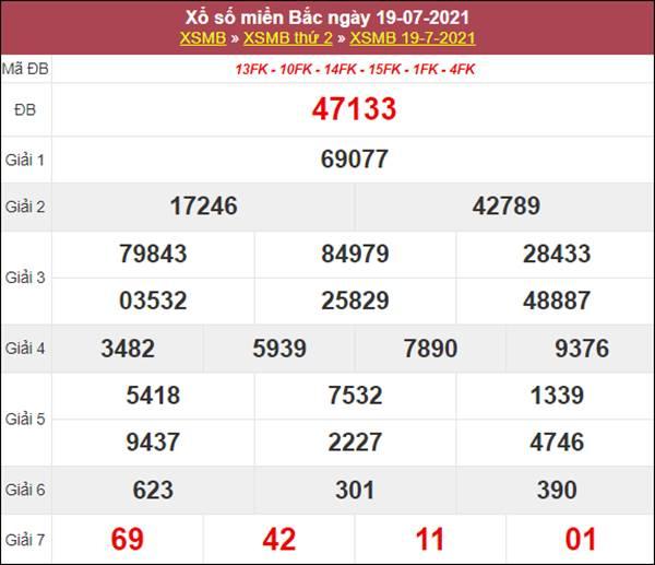 Soi cầu XSMB 20/7/2021 chốt loto tỷ lệ trúng cao thứ 3