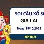 Soi cầu KQXSGL ngày 15/10/2021 chốt lô VIP đài Gia Lai